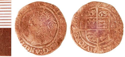 NLM-01AB9D: Post-Medieval Coin: Groat of Elizabeth I
