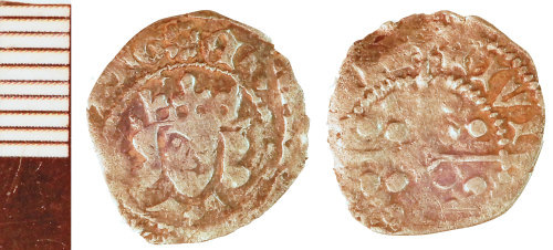 NLM-1B1DB7: Medieval Coin: Penny of Edward IV [second reign]
