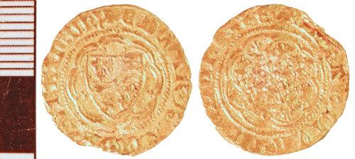 NLM-1B4553: Medieval Coin: Quarter Noble of Edward III
