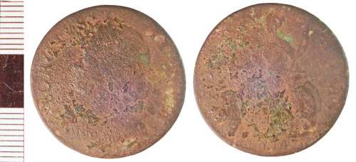 NLM-AE4046: Post-Medieval Coin: Halfpenny of George II