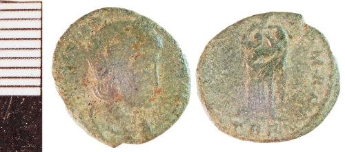 NLM-FD04BD: Roman Coin: Nummus of Theodora