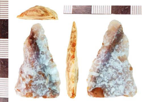 NLM-5D362C: Neolithic Plano Convex Knife fragment