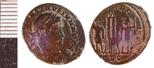 NLM-C9BB4E: Roman coin: Nummus of Constantine II