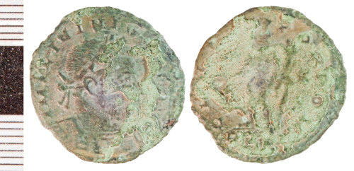 NLM-94FC21: Roman Coin: Nummus of Licinius