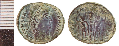 NLM-14484C: Roman Coin: Nummus of Constans
