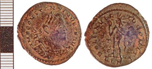 NLM-1492F1: Roman Coin: Nummus of Constantine I