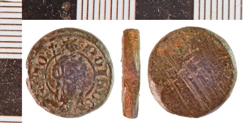 NLM-2B2215: Medieval Coin Weight