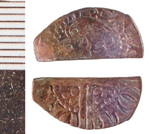 NLM-56F56A: Medieval Coin: Halfpenny of Henry III