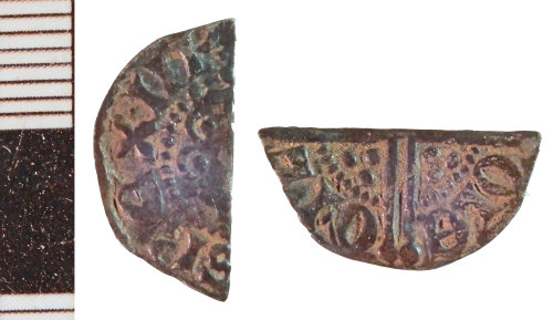 NLM-BE40F5: Medieval Coin: Halfpenny of Henry III