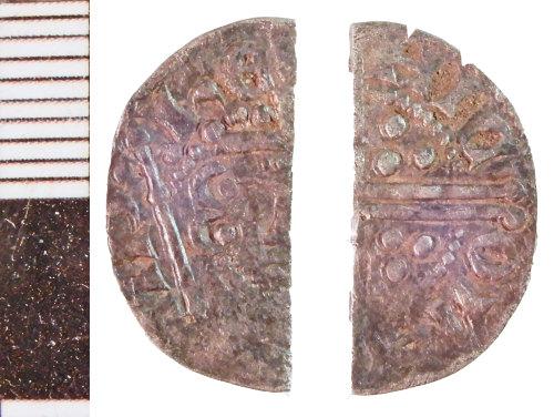 NLM-BEC5DE: Medieval Coin: Halfpenny of Henry III