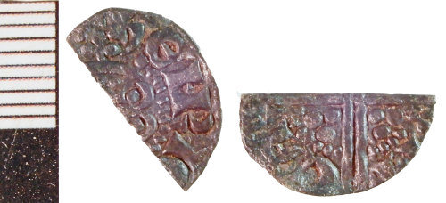 NLM-BED61F: Medieval Coin: Halfpenny or Farthing of Henry III