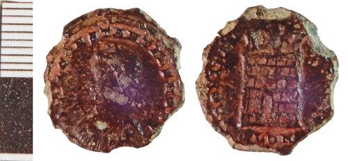 NLM-D3BF66: Roman Coin: Nummus of Constantius II