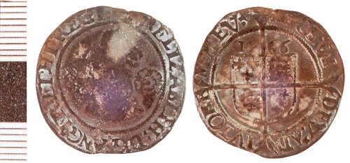 NLM-D40059: Post-Medieval Coin: Sixpence of Elizabeth I