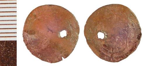 NLM-40FABB: Post-Medieval Coin: Penny of Elizabeth I, Pierced