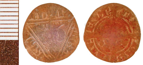 NLM-7B43B4: Irish Halfpenny of Edward I