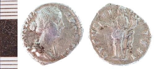 NLM-4C07A3: Roman Coin: Denarius of Faustina II