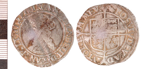 NLM-21E9F4: Post-Medieval Coin: Shilling of Elizabeth !