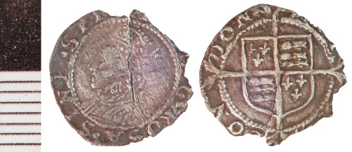 NLM-4844B7: Post-Medieval Coin: probably a Penny of Elizabeth I