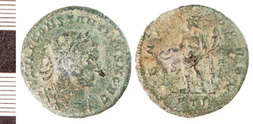 NLM-5EB013: Roman Coin: Nummus of Constantine I