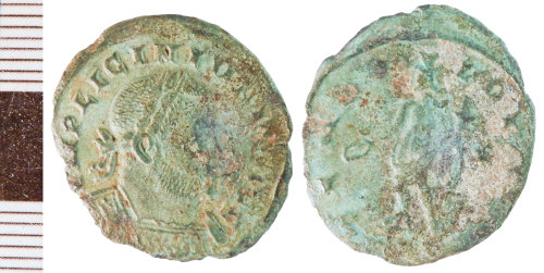 NLM-B518C9: Roman Coin: Nummus of Licinius I