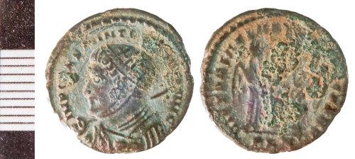 NLM-DAB542: Roman Coin: probably Nummus of Constantine II