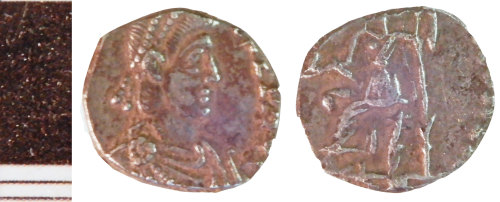 NLM-95F394: Roman Coin: Siliqua of the House of Valentinian