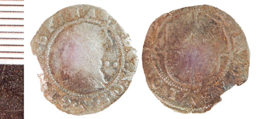 NLM-96A208: Post-Medieval Coin: Halfgroat of Elizabeth I
