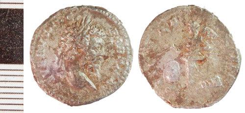 NLM-BF95FE: Roman Coin: Denarius of Septimius Severus