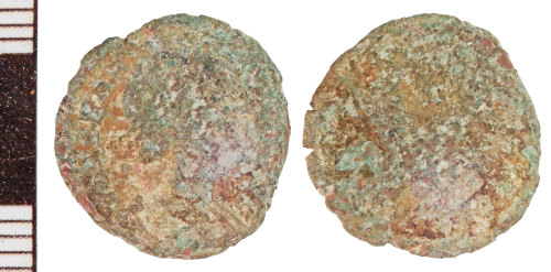 NLM-C04240: Roman Coin: Nummus indeterminate