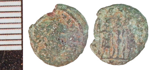 NLM-7ED9CB: Roman Coin: Nummus of the House of Constantine