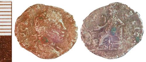 NLM-126D33: Roman Coin: probably a Severan Denarius