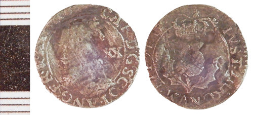 NLM-A05C8E: Post-Medieval Coin: Scots Twenty Pence of Charles I