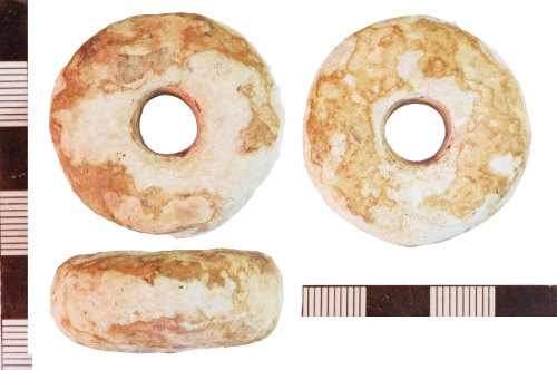 NLM-C6CA91: Early Medieval Spindle Whorl