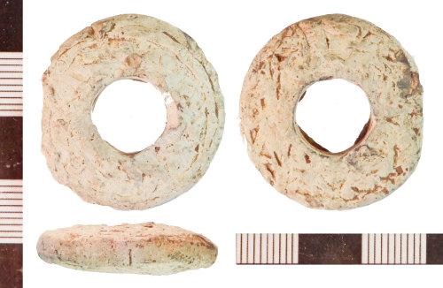 NLM-5E3C85: Medieval Spindle Whorl