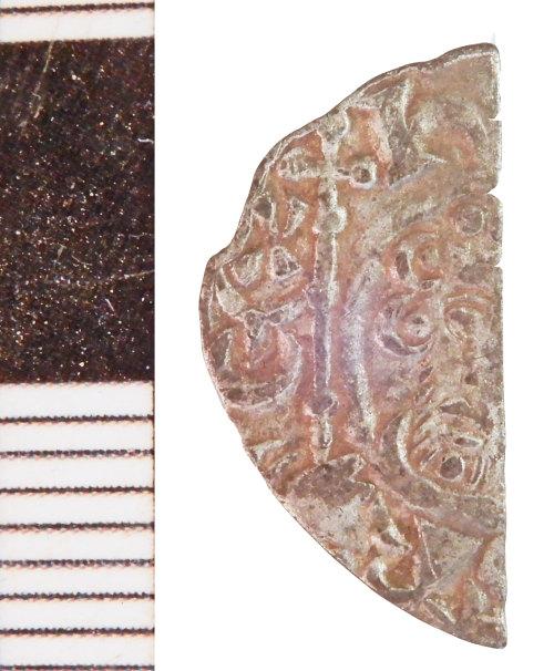 NLM-274F1E: Medieval Coin: Halfpenny of John - obverse