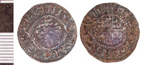 NLM-3D62D4: Medieval Coin: Penny of John