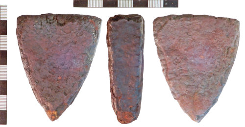 NLM-3D8DE2: Post-Medieval Iron Object, possibly a Weight