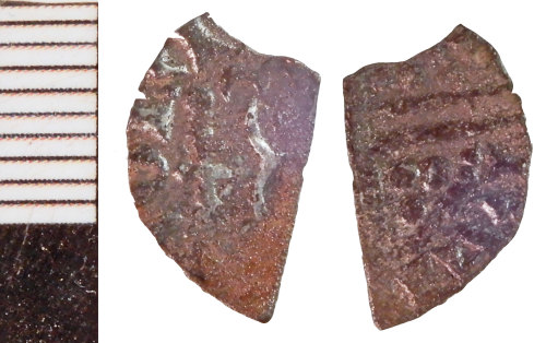NLM-3E8C38: Medieval Coin fragment: Halfpenny, possibly of Henry III