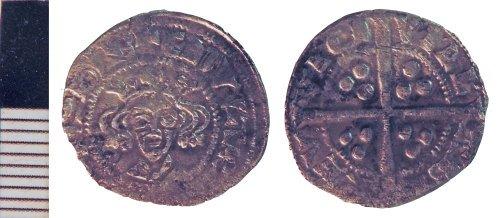 NLM-4C4352: Medieval Coin: Penny of Edward II
