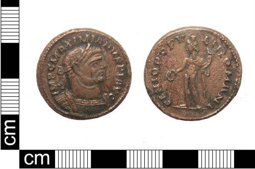 PUBLIC-63DB9D: A copper alloy Roman Nummus of Maximian dating AD286-305, (Reece period 15), probably London mint.