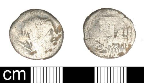 SOM-4472CC: Roman coin: republican denari of uncertain moneyer