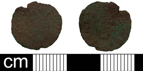 SOM-C6FDD3: Post Medieval Coin: Royal farthing token of Charles I