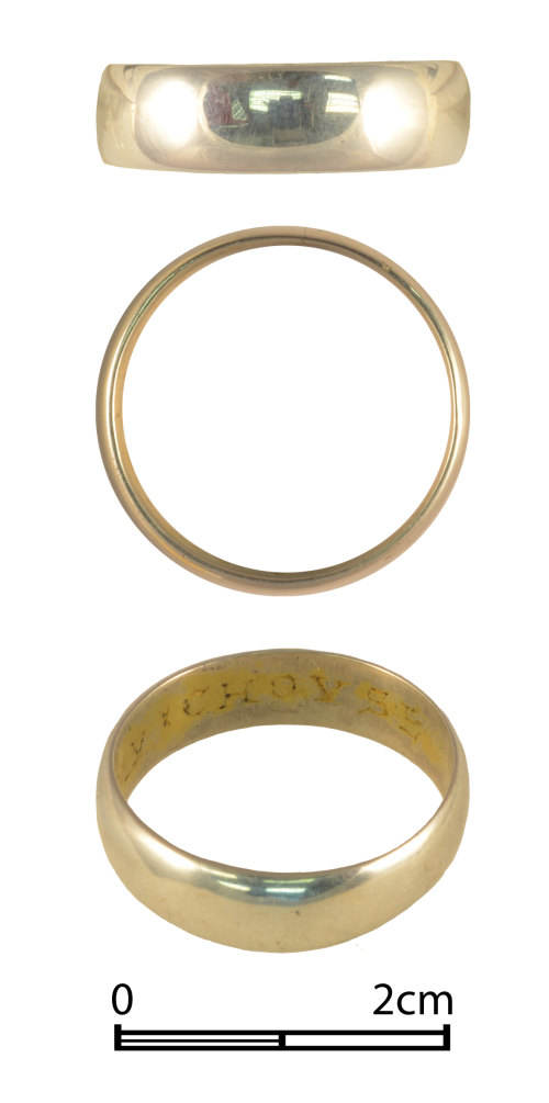 NMGW-19DF6E: Post Medieval silver finger ring