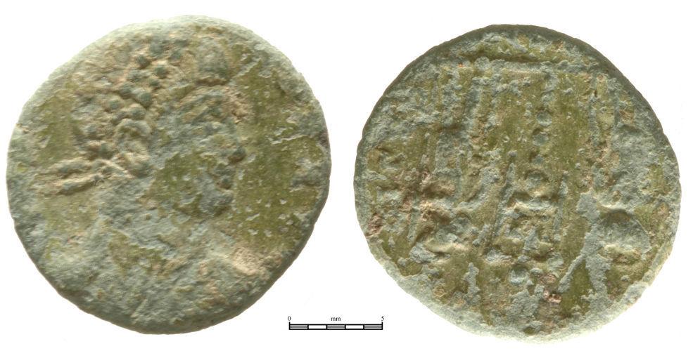 NMGW-9E4724: Roman, Copper Alloy, Constans / Constantius II nummus