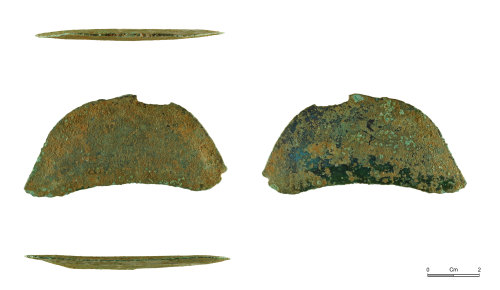 NMGW-B18276: Bronze Age knife or razor probably of Late Bronze Age date
