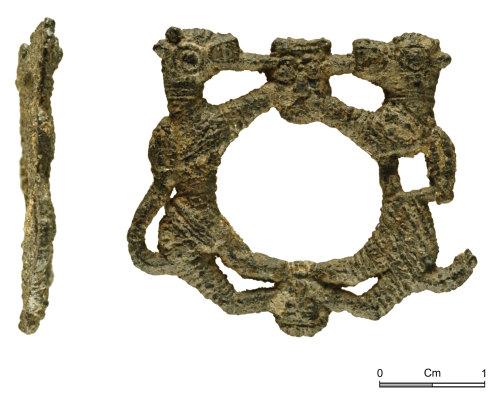 NMGW-DADB4F: Late medieval lead alloy or pewter brooch