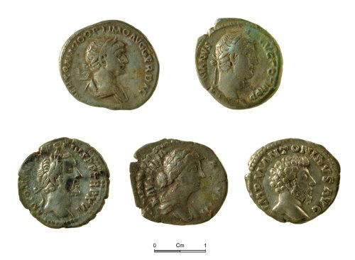 NMGW-63CDFB: Five of the Roman silver denarii