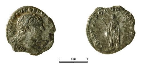 NMGW-FE3E56: Trajan (AD 98-117) denarius, Rome