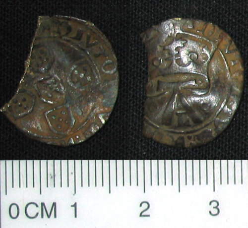 DENO-EF58A6: Clipped post medieval foreign coin