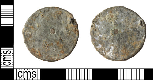 WILT-F471DF: tin farthing of William and Mary